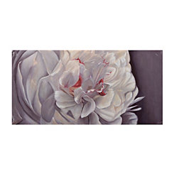 White Floral Canvas Art
