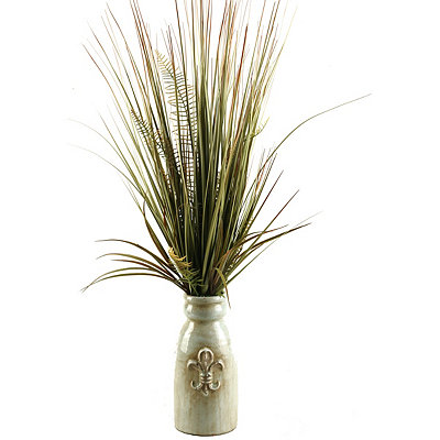 Mixed Grass Fleur-de-lis Planter Arrangement
