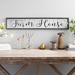 Slatted Wood Farm House Framed Art Print