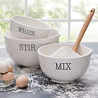 Set of 3 Whisk, Mix, and Stir Mix Bowls