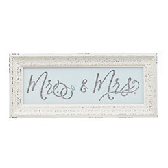 Cream Mr. & Mrs. Framed Wall Art Print