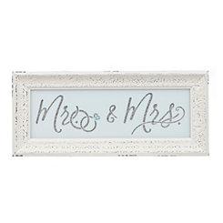 Cream Mr. & Mrs. Framed Wall Art Print
