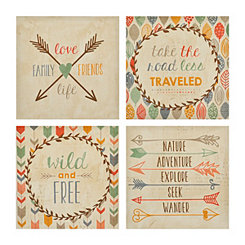 Wild and Free Canvas Art Prints, Set of 4