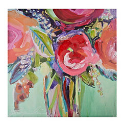 Bright Floral Vase Canvas Art Print