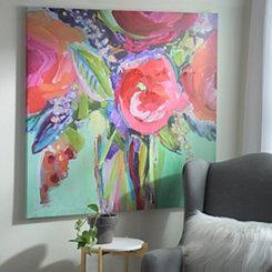 Bright Floral Vase Canvas Art Print