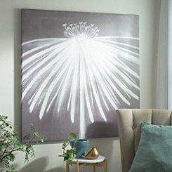 Coneflower Silhouette Canvas Art Print