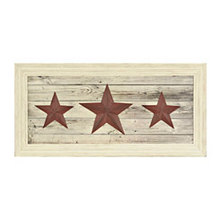 Red Texas Stars Shadowbox