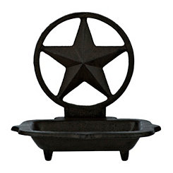 Cast Iron Lone Star Soap Dish