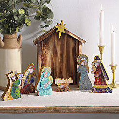 Hand-Painted Nativity Scene, Set of 7