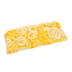 Yellow Paisley Outdoor Settee Cushion