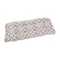 Gray Dora Outdoor Settee Cushion