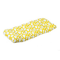 Geometric Citron Outdoor Settee Cushion