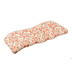 Coral Ikat Outdoor Settee Cushion