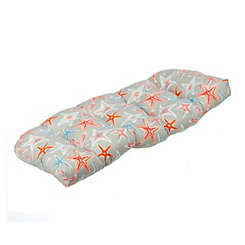 Gray Starfish Outdoor Settee Cushion