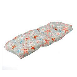 Gray Starfish Outdoor Settee Cushion