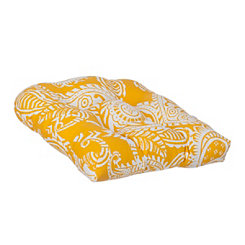 Yellow Paisley Outdoor Cushion