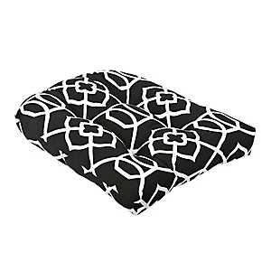 Black Trellis Outdoor Cushion