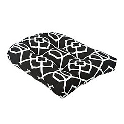 Black Trellis Outdoor Cushion
