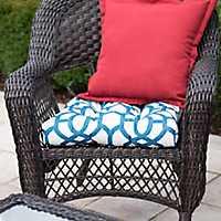 Blue Geometric Outdoor Cushion