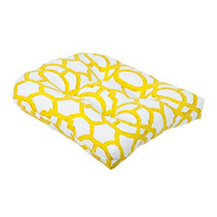 Yellow Geometric Outdoor Cushion