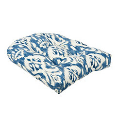 Indigo Ikat Outdoor Cushion