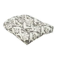 Gray Ikat Outdoor Cushion