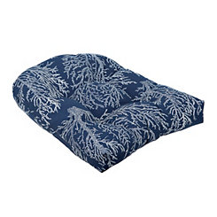 Navy Coral Outdoor Cushion
