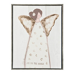 Angel with Wings Framed Canvas Art Print