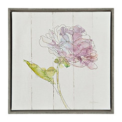 Watercolor Bloom I Framed Canvas Art Print