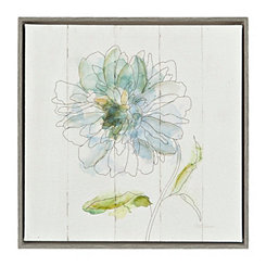 Watercolor Bloom II Framed Canvas Art Print