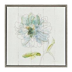Watercolor Bloom II Framed Canvas Art Print