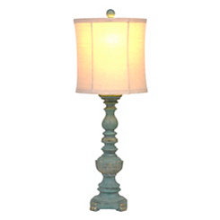 Baldwin Blue and Gold Rook Table Lamp