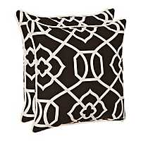 Black Gate Outdoor Pillows, Set of 2
