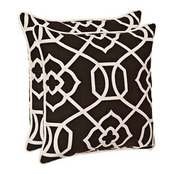 Black Gate Outdoor Pillows, Set of 2