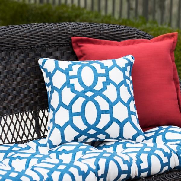 Blue Gate Outdoor Pillows, Set Of 2