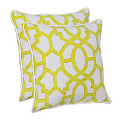 Yellow Gate Outdoor Pillows, Set of 2