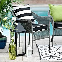 Gray Key West Wicker Chair