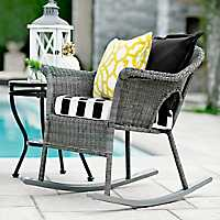 Gray Key West Wicker Rocker