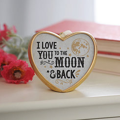 To The Moon And Back Heart Figurine