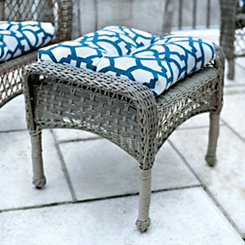 Blue Gate Outdoor Ottoman Cushion