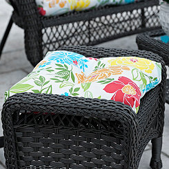 Spring Bling Outdoor Ottoman Cushion