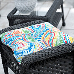 Multicolor Ummi Outdoor Ottoman Cushion