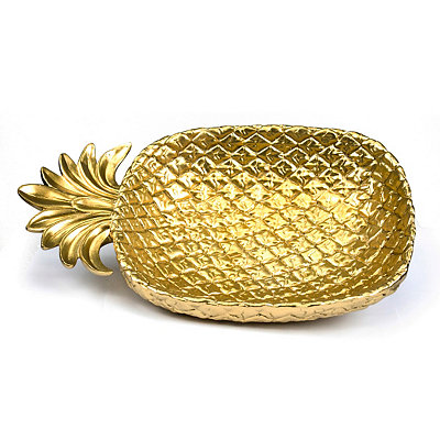 Golden Pineapple Plate