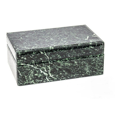 Green Marbleized Decorative Box