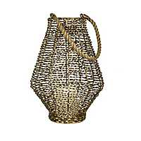 Gold Twisted Metal Lantern