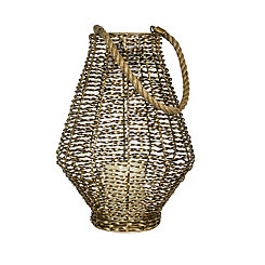 Gold Twisted Metal Lantern