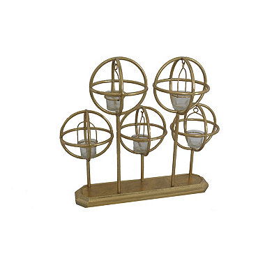 Gold Geometric Tealight Candle Runner