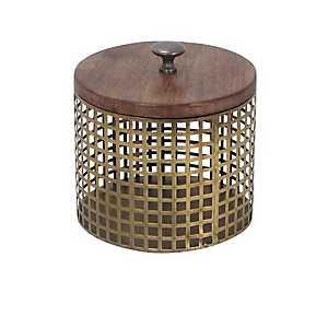 Round Gold Cage Decorative Box