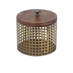 Round Gold Cage Decorative Box