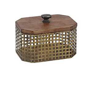 Octagon Gold Cage Decorative Box